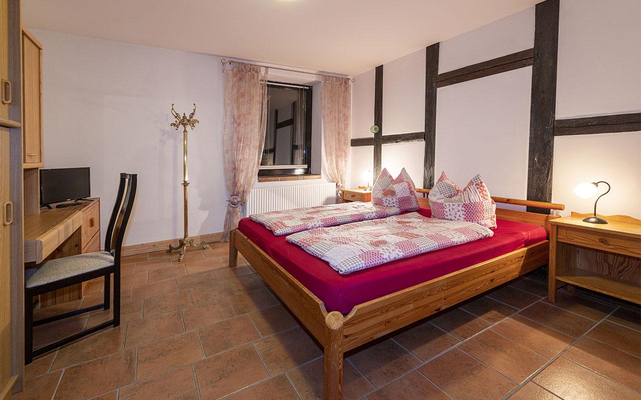 Schlafzimmer in der großen Ferienwohnung